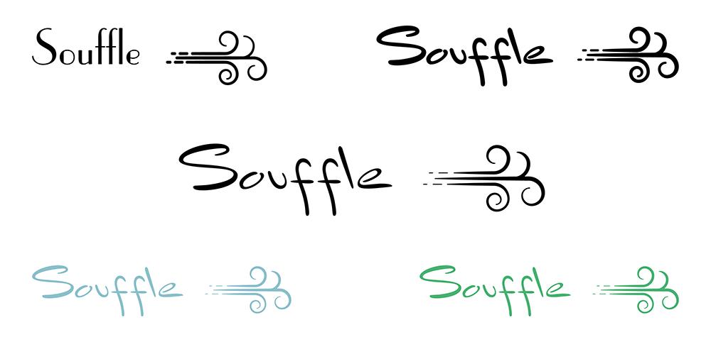 Différentes pistes du logo